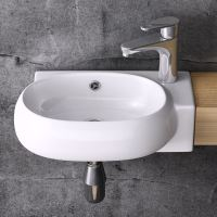 Durovin Bathroom White Basin Sink Range Stone Wall Mounted ...