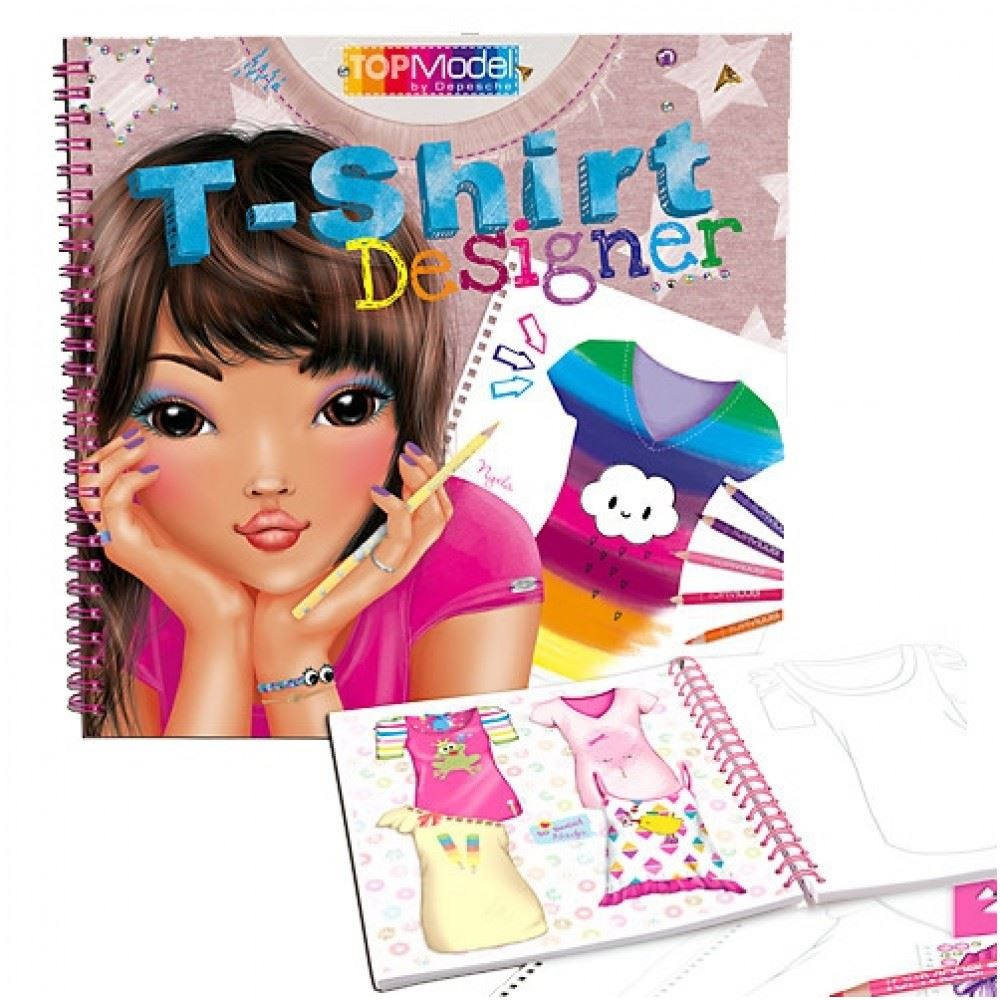 Libro Top Model Details About Topmodel T Shirt Designer Colouring Book