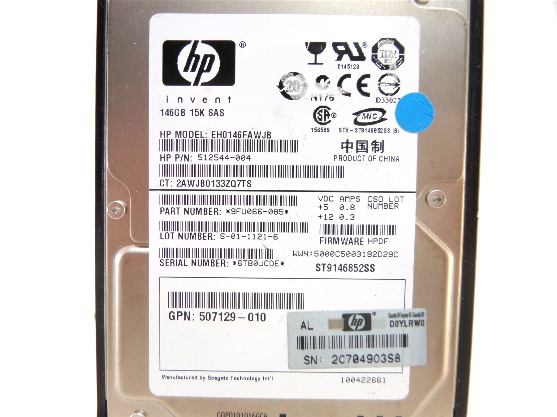 Sas Bad 24 Details About Hp Eh0146fawjb 146gb 10k 2 5