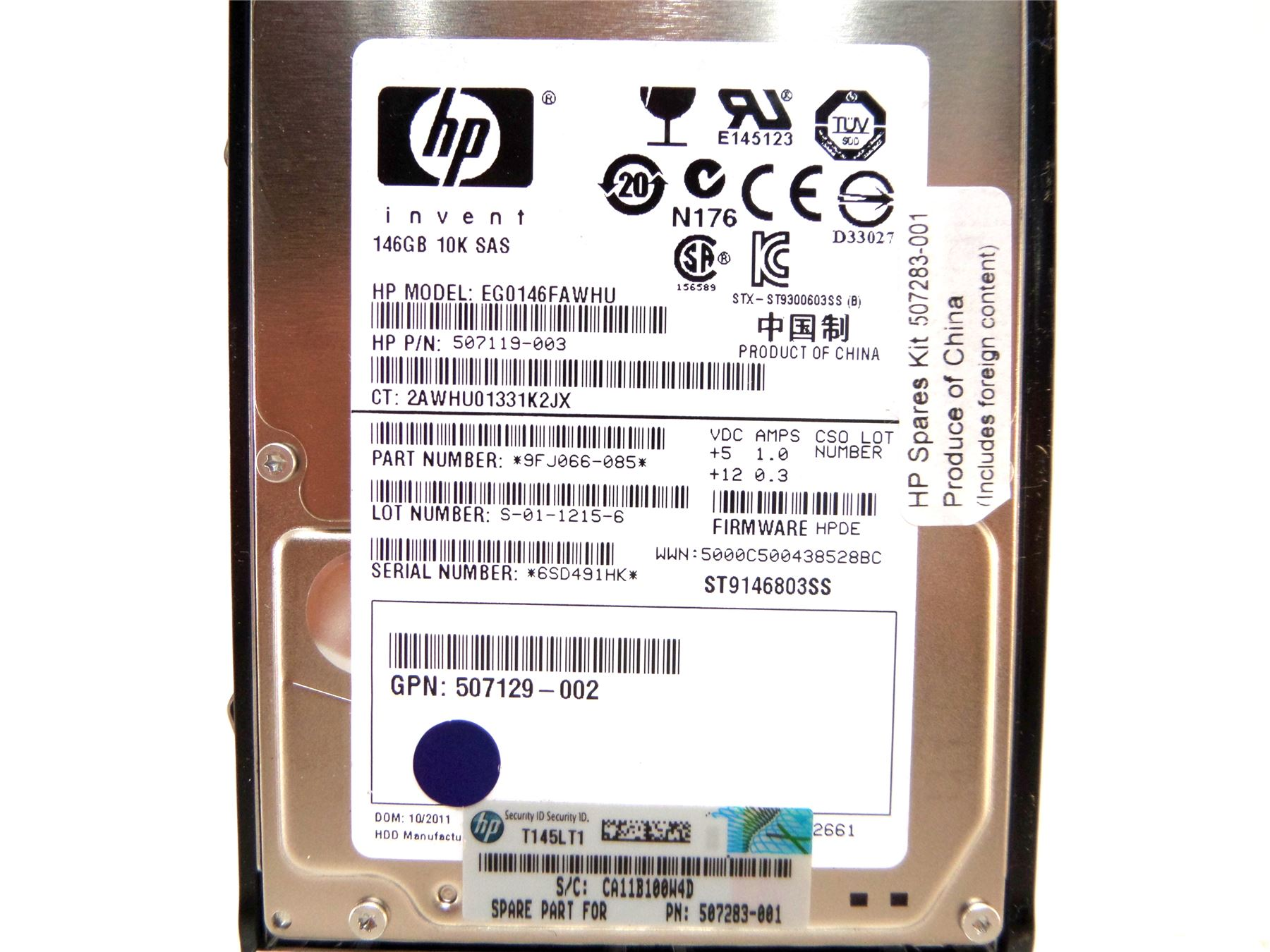 Sas Bad 24 Details About Hp Eg0146fawhu 146gb 10k 2 5