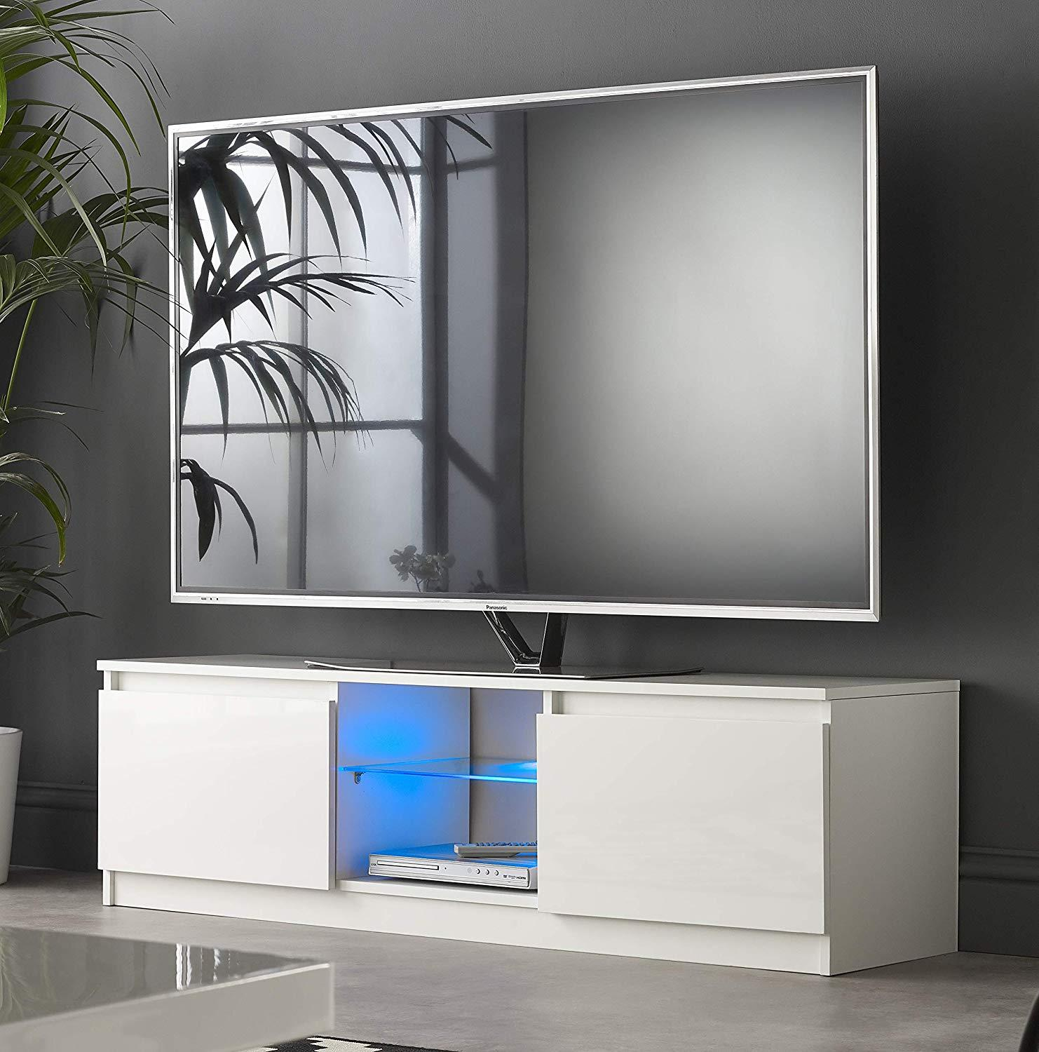 Tv Sideboard Modern New Modern Tv Unit Cabinet Stand Sideboard 120 Cm - White ...