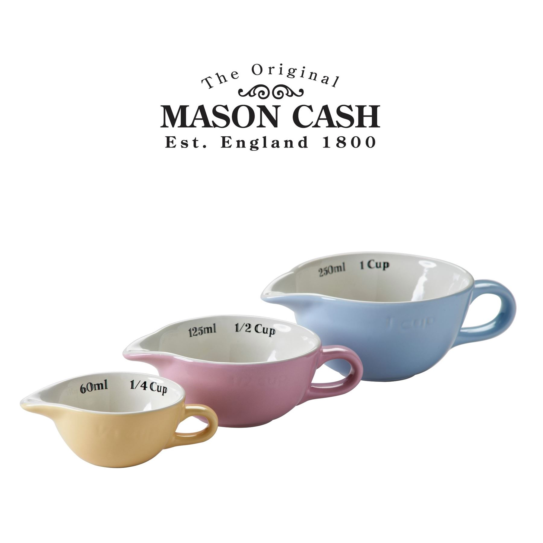 Amazon Messbecher Küche Mason Cash Backen Mein Tag Set Mit 3 Messbecher 60 125
