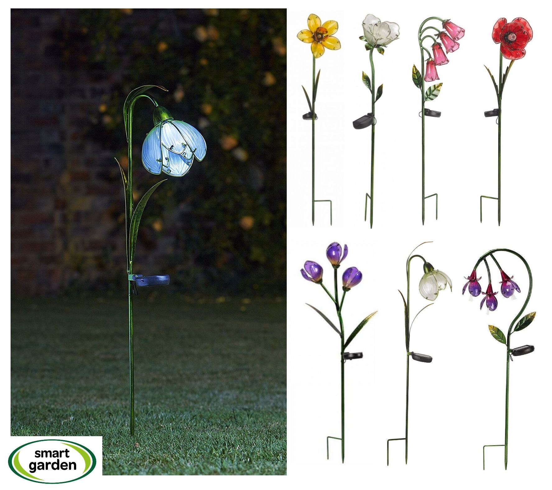 Solarlicht Garten Smart Garden Solar Light Led Garden Flower Rose Poppy