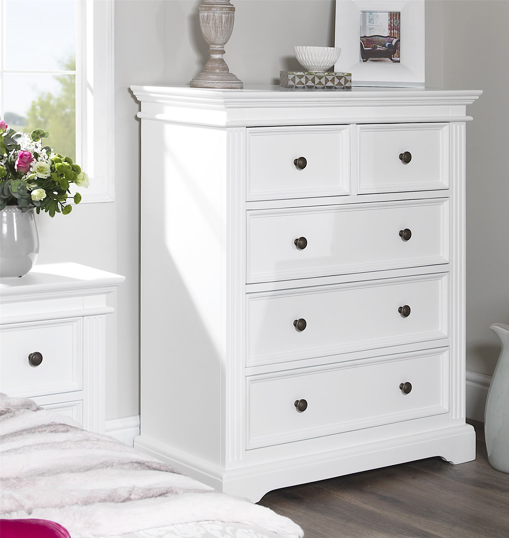 White Bedside Drawers Gainsborough White Bedroom Furniture Bedside Cabinets