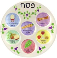 Disposable Plastic Seder Plate for Passover Jewish Kids ...