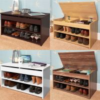 BUDGET SHOE RACK CABINET LIFT UP TOP STORAGE STORES UP TO ...