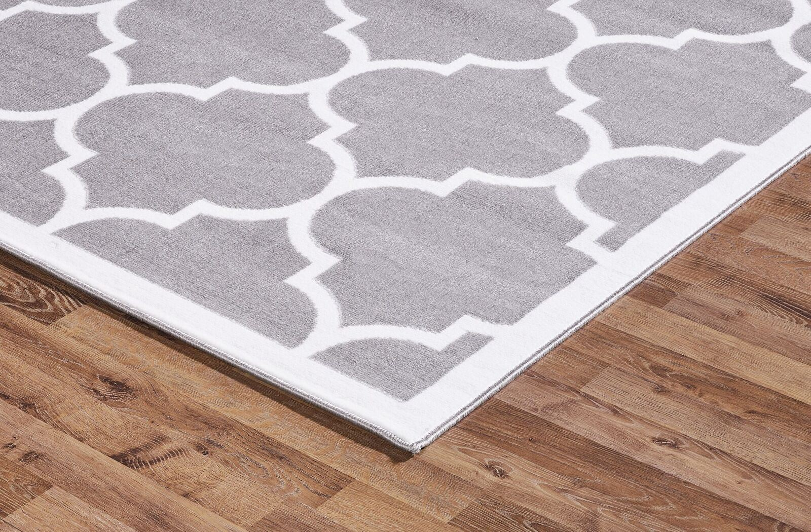 Contemporary Area Rugs Large Modern Geometric Moroccan Trellis Thin Carpet Silver