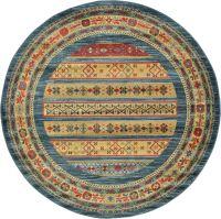 Oriental Modern Area Rug Soft Round Carpet Tribal ...