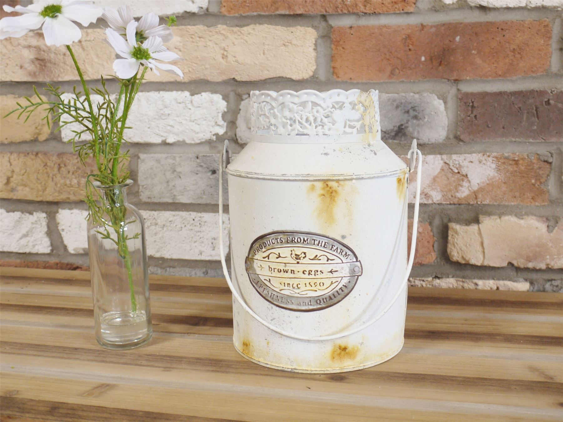 Decorative Milk Urn Details About Decorative Distressed Milk Churn Finished In Antique White