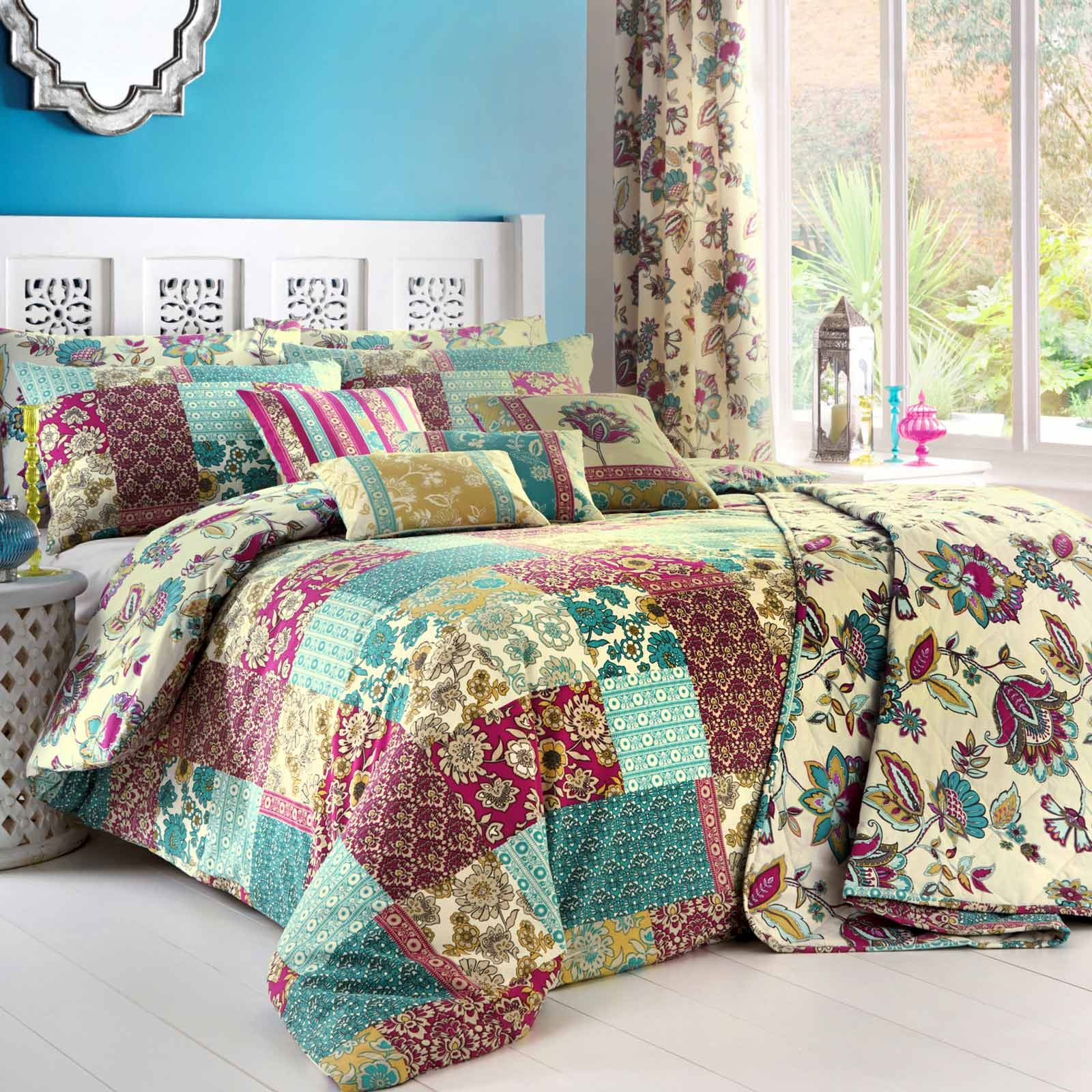 Teal Quilt Cover Teal Duvet Covers Marinelli Vintage Floral Printed Easy