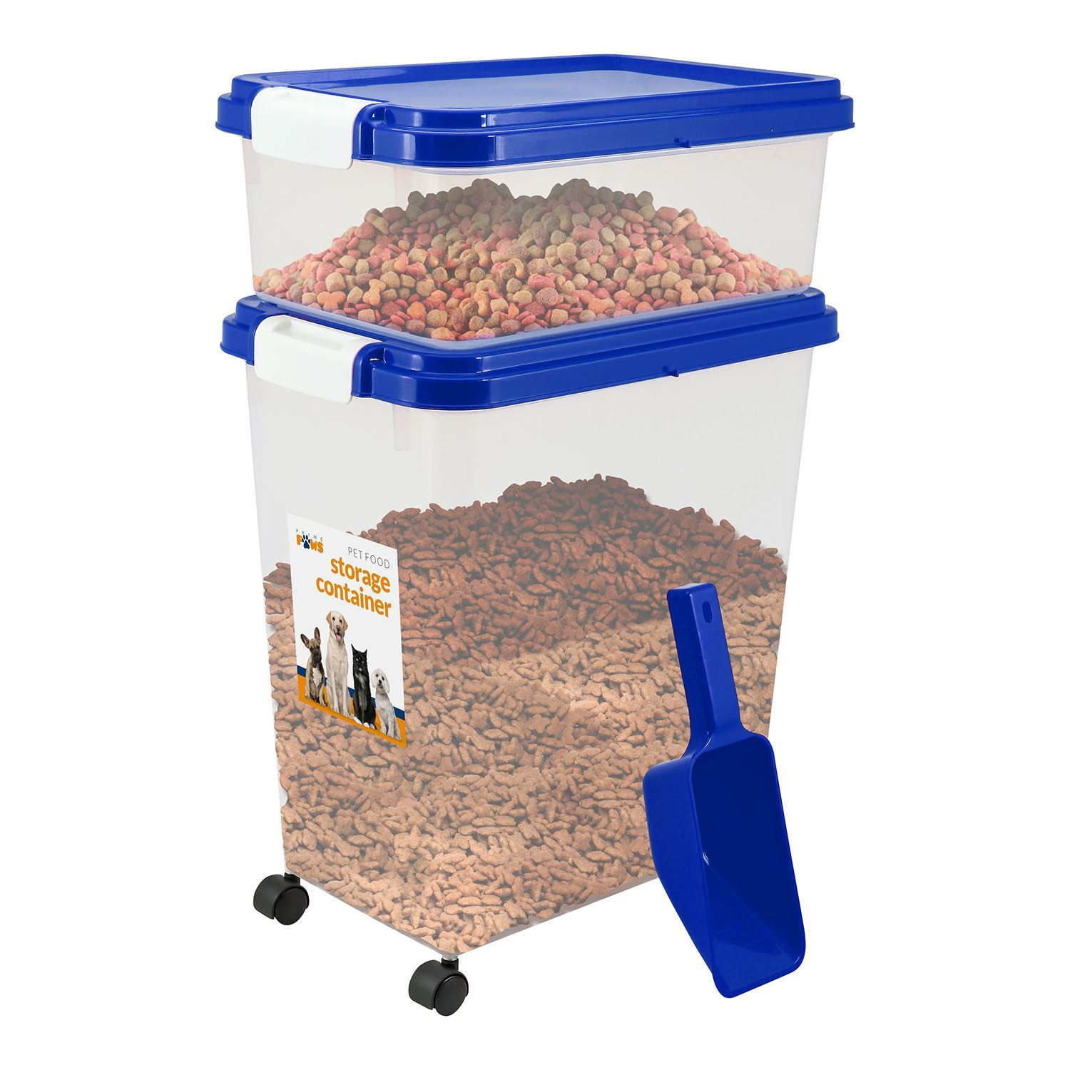 Pet Food Storage Container With Lids Dog Cat Animal Food