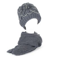 Ladies Winter Chunky Knit Beanie Hat with Fleece Lining ...