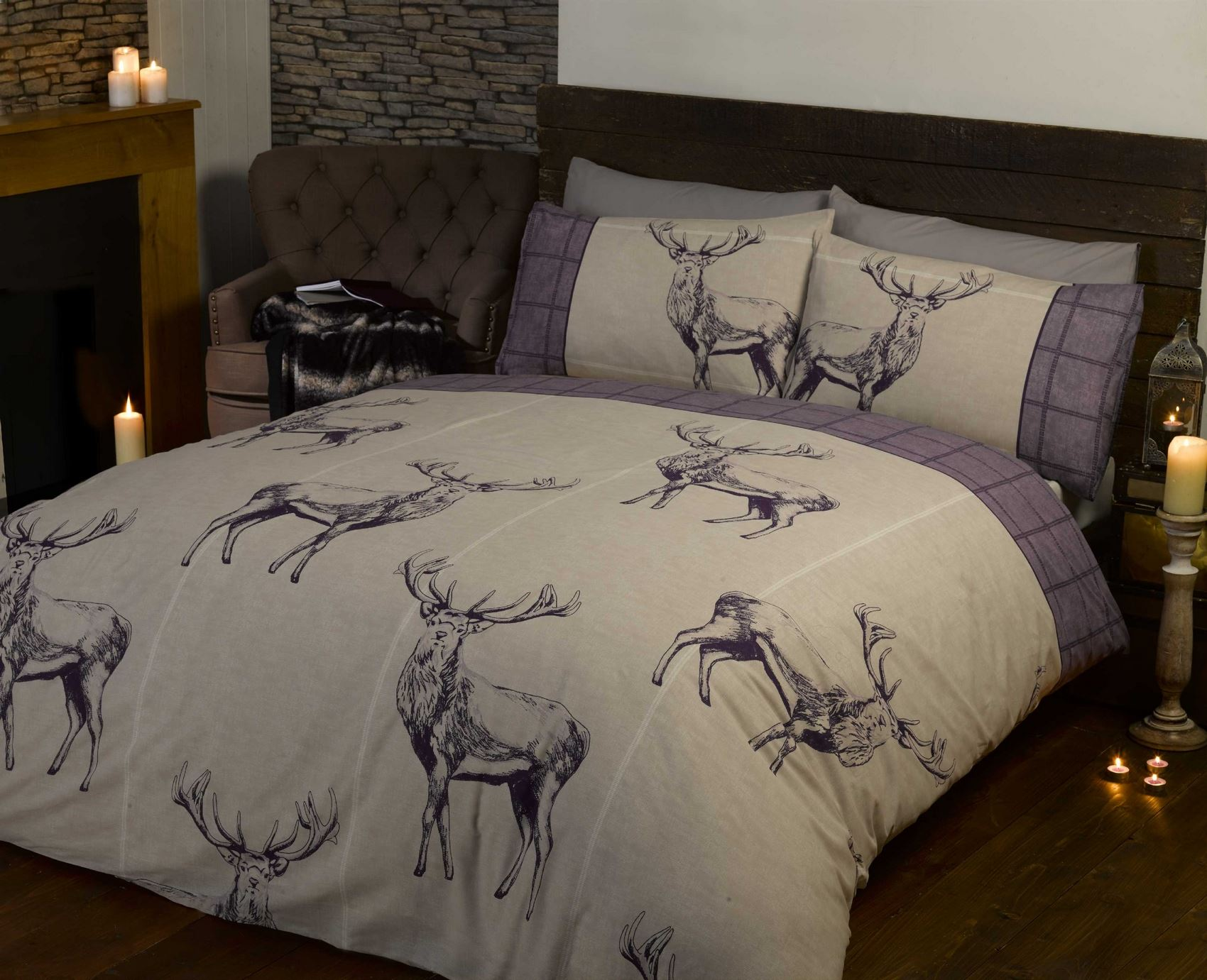King Single Doona Cover Stag Duvet Cover And Pillowcase Quilt Cover Bedding Bed Sets
