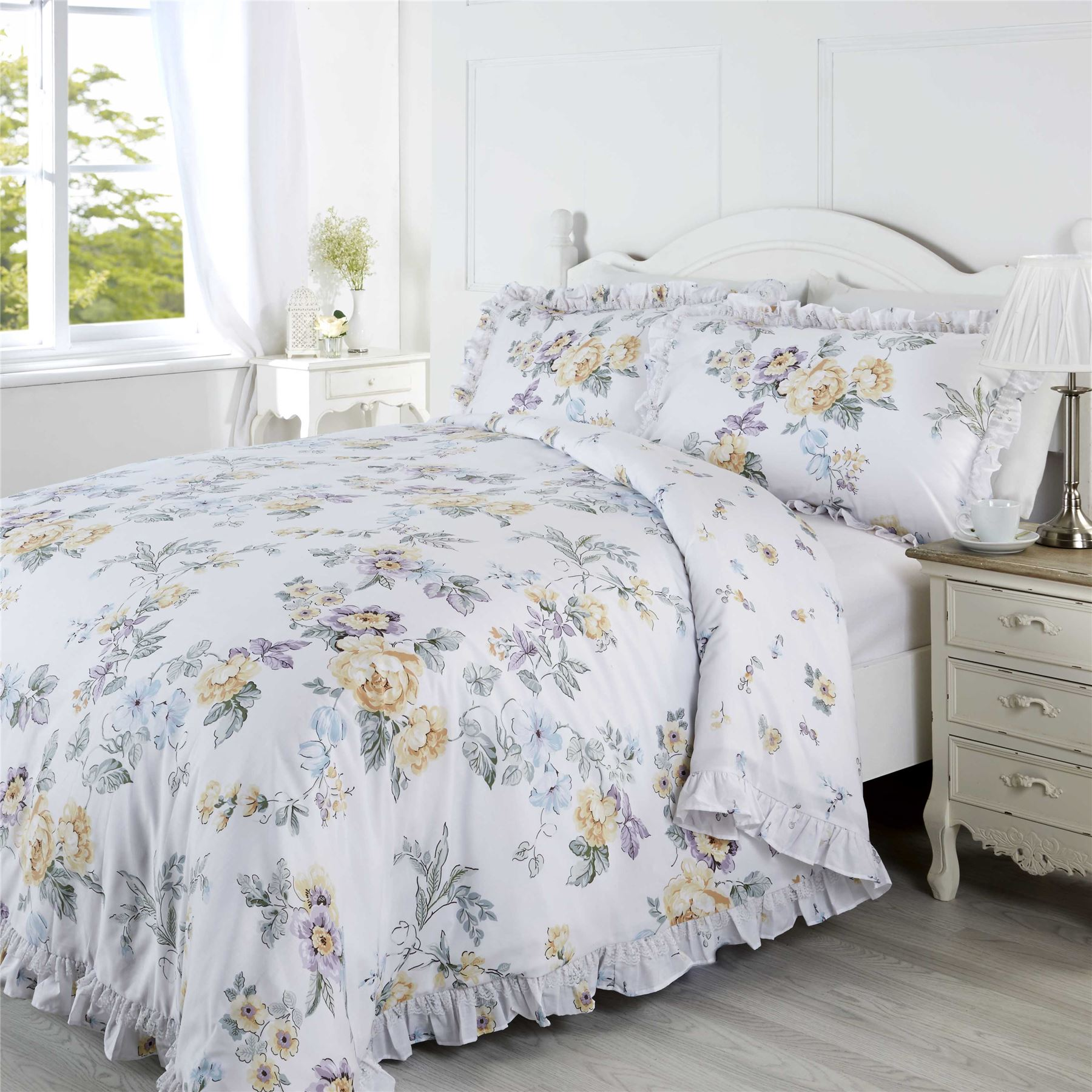 King Bed Duvet Cover Floral Quilt Duvet Cover And Pillowcase Bedding Bed Set