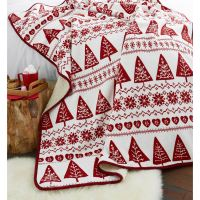Christmas Soft Fleece Throws Decorative Bed Sofa Blanket ...