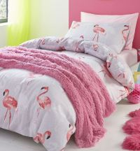 Catherine Lansfield Flamingo Quilt Duvet Cover Bedding Bed ...