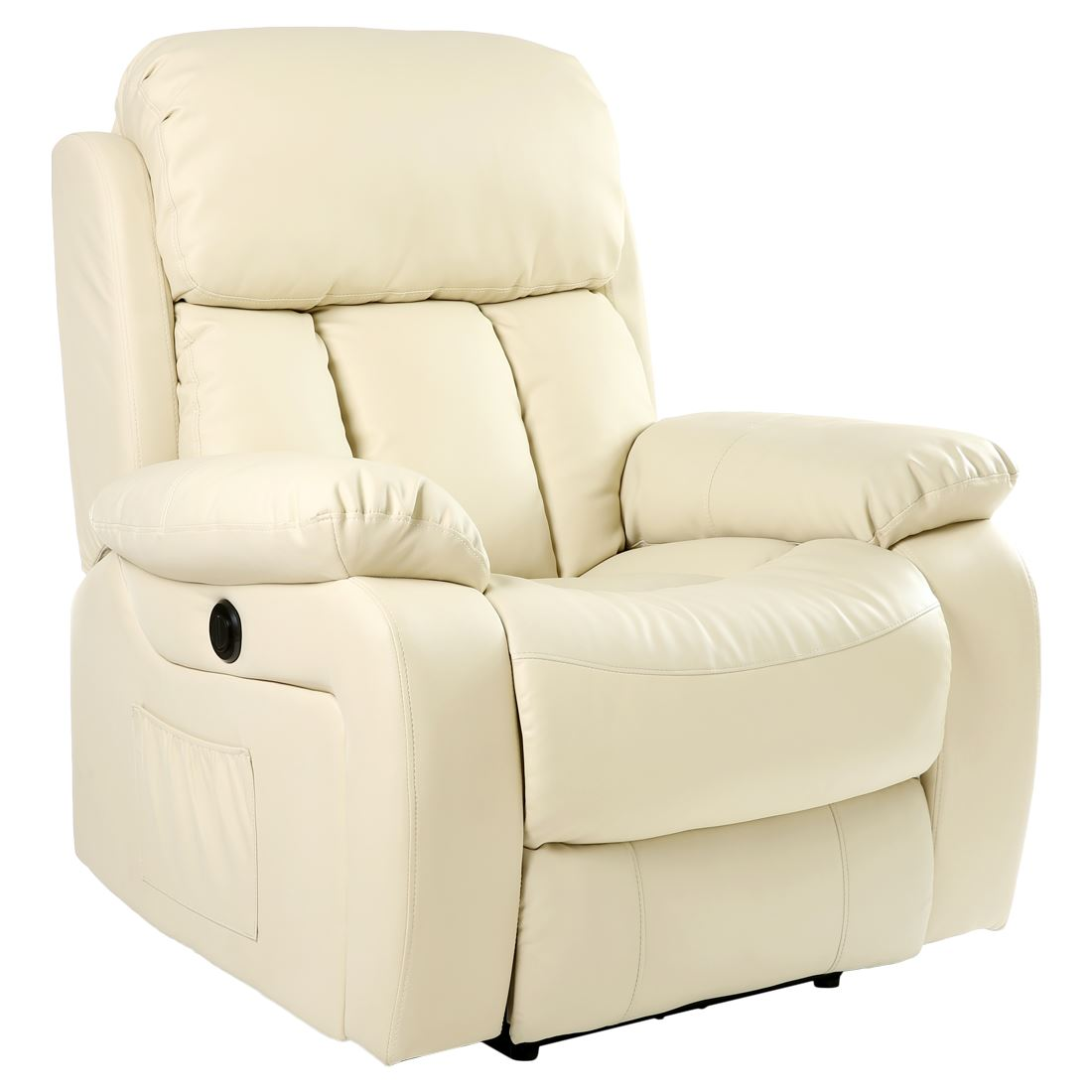 Electric Recliner Leather Chairs Chester Cream Electric Heated Leather Massage Power
