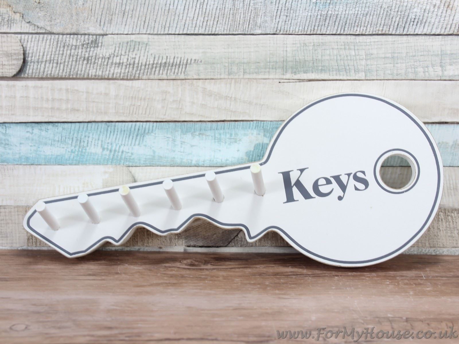 Key Shaped Key Rack White Wooden Key Shaped Key Rack Key Hook Wall Mounted