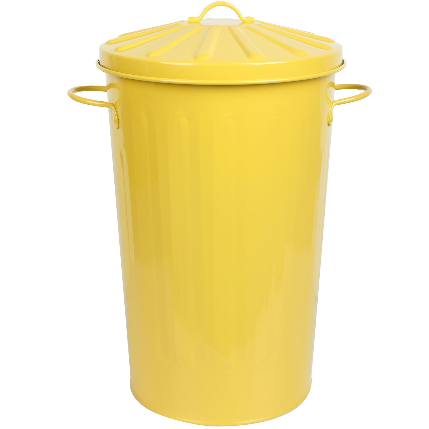 Small Metal Trash Cans With Lids Crazygadget 18 Litre Metal Small Round Dustbin Paper