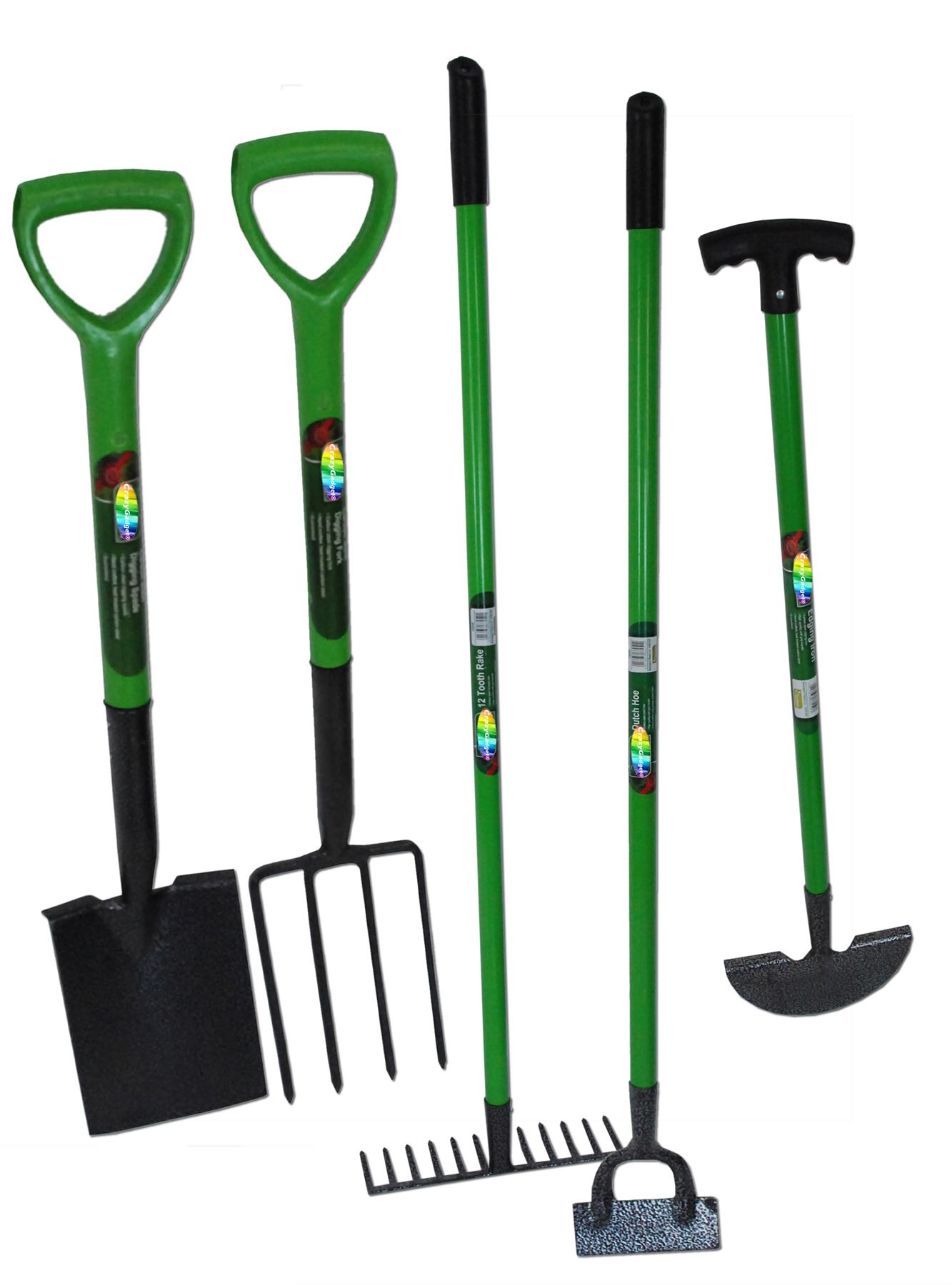 Garden Tools Kingfisher 5pcs Gardening Tool Set Fork Spade Hoe Edging