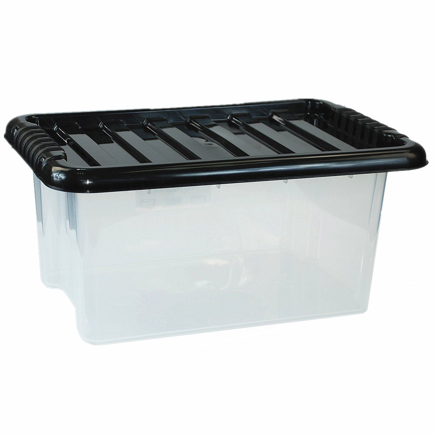 Clear Box Large Plastic Storage Clear Box With Lid Made In U K