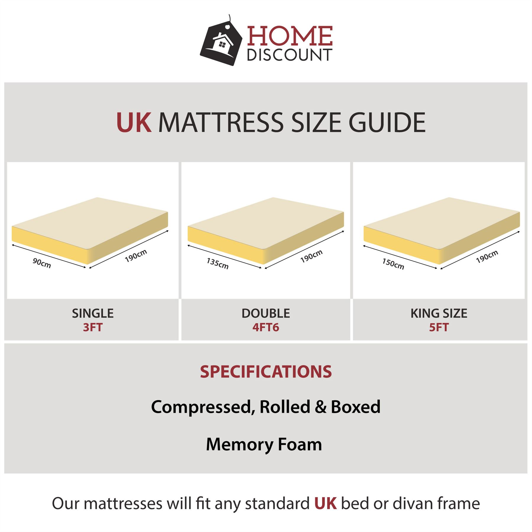 Uk Mattress Sizes Details About Metal Bed Double King Size Frame 4ft 4ft6 5ft Mattress Black White Chicago