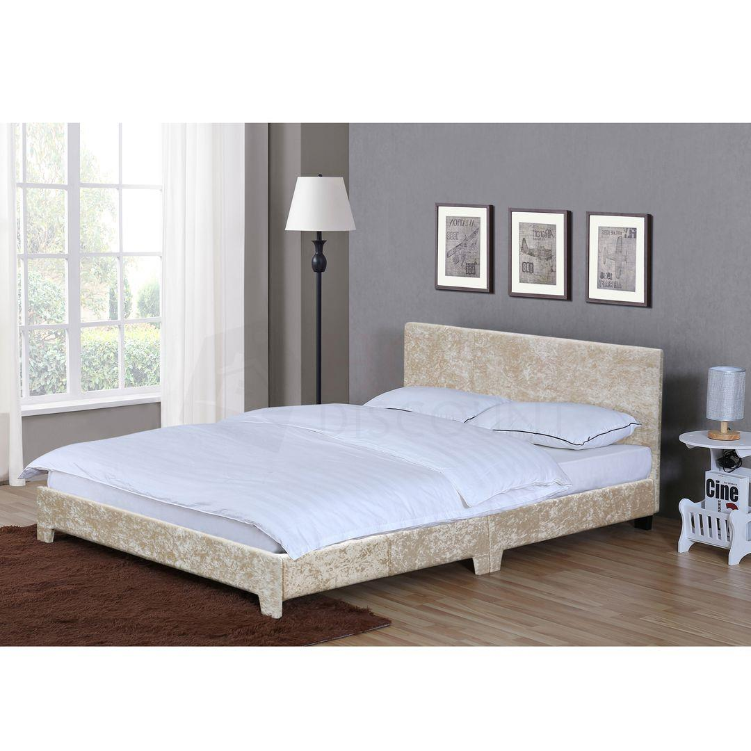 Victoria Fabric Double 4ft6 Bed Mattress Spring Memory Foam Oyster Velvet Ebay