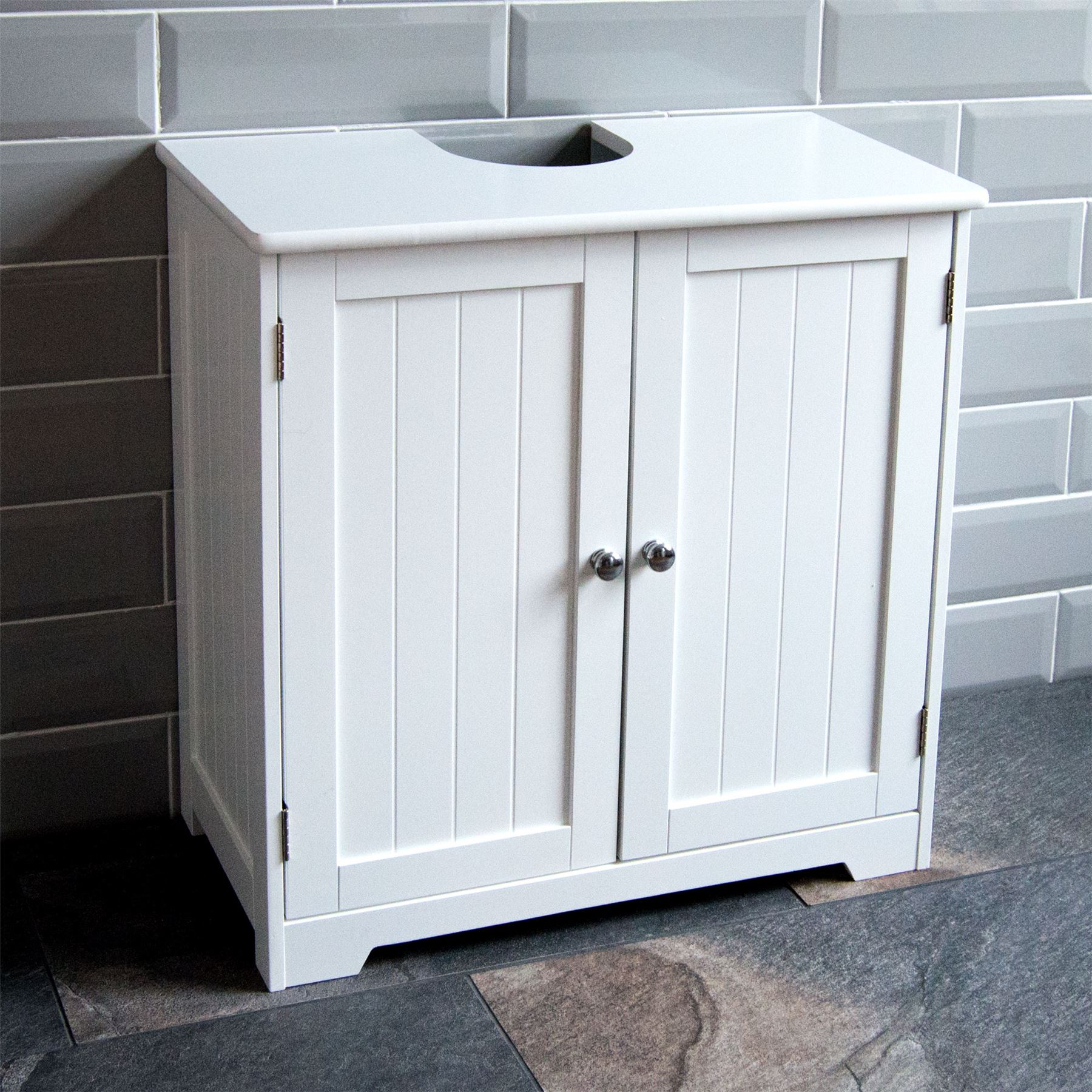 White Cupboard Priano Freestanding Bathroom Cabinet Unit White Vanity