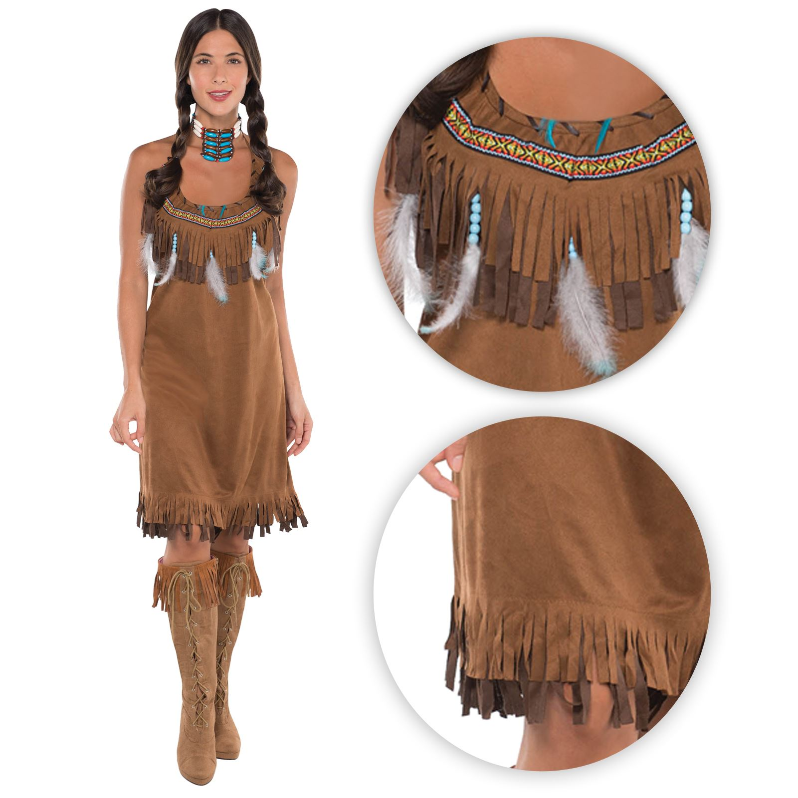 Pocahontas Kostüm Selber Machen Ladies Womens Red Indian Fancy Dress Costume Pocahontas