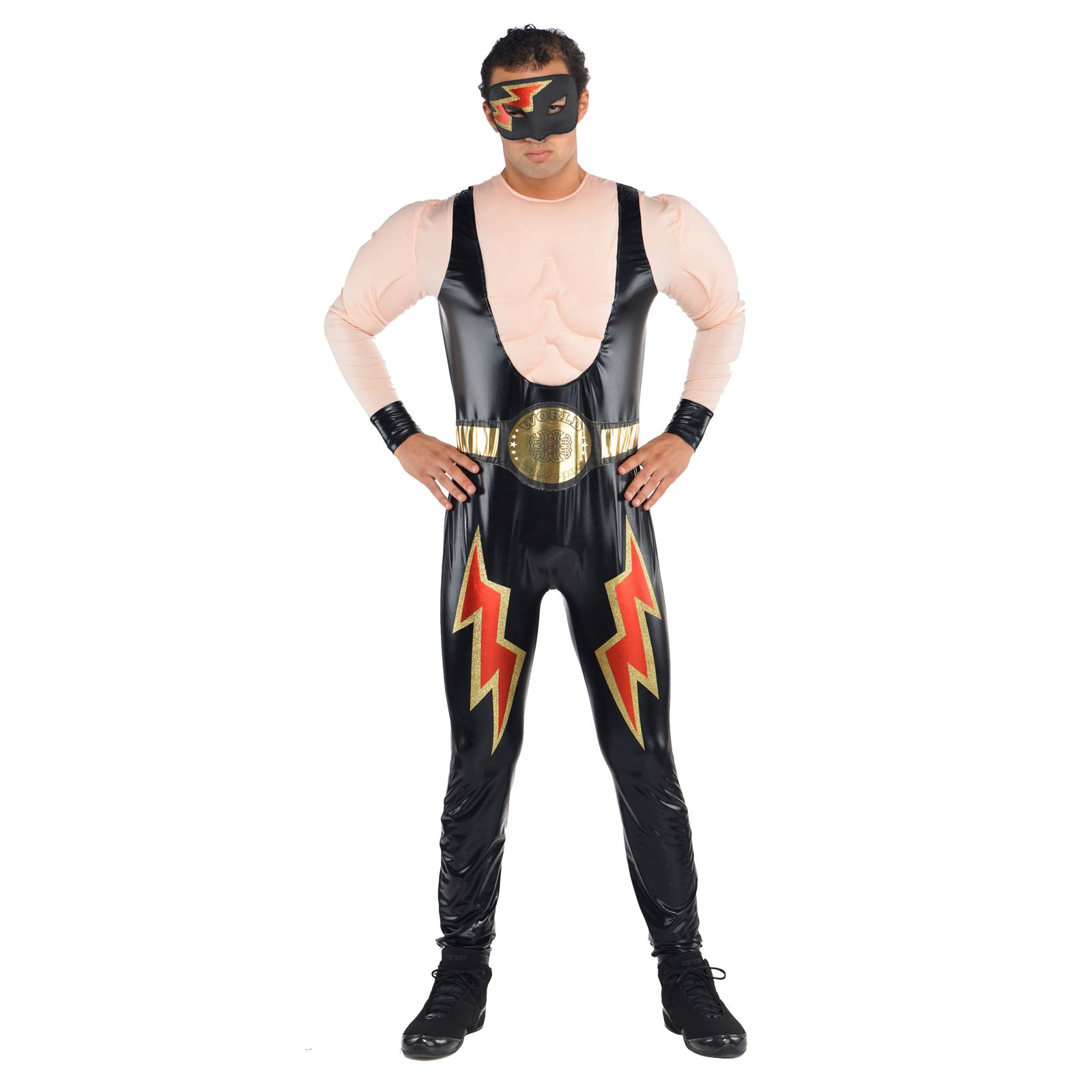 Trajes De Lucha Libre Wwe Wrestler Mens Fancy Dress Wrestling Party Adult Deluxe