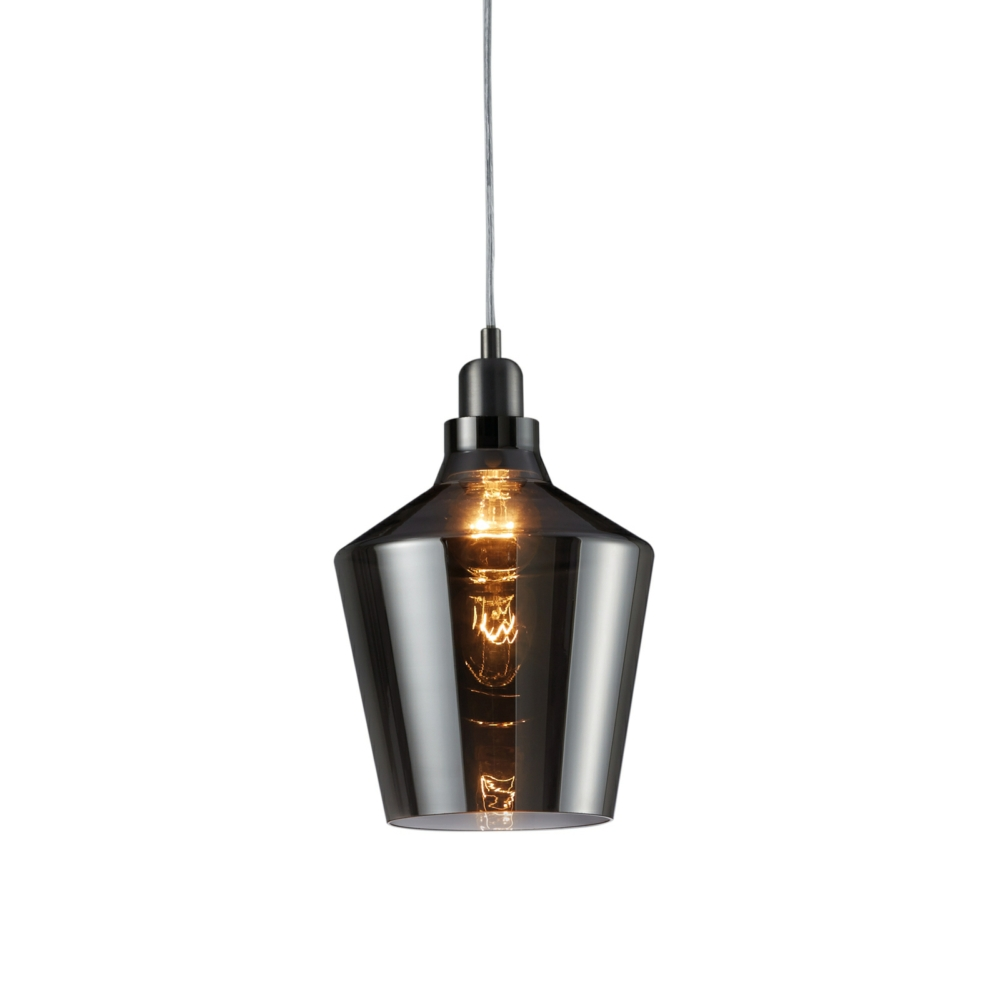 Glass Lamp Ceiling Calais Pendant Ceiling Light Smoked Glass