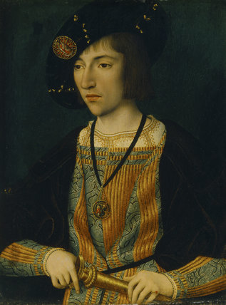 A YOUNG MAN by Master of the Magdalen Legend, active late 15th and