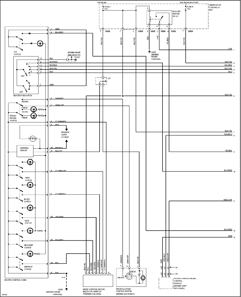 1997 honda accord radio wire diagram