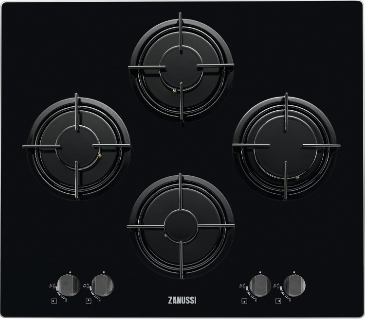 Zanussi Gaskookplaat Buy Zanussi Zgx65414ba 4 Burner Gas Hob - Black On Glass