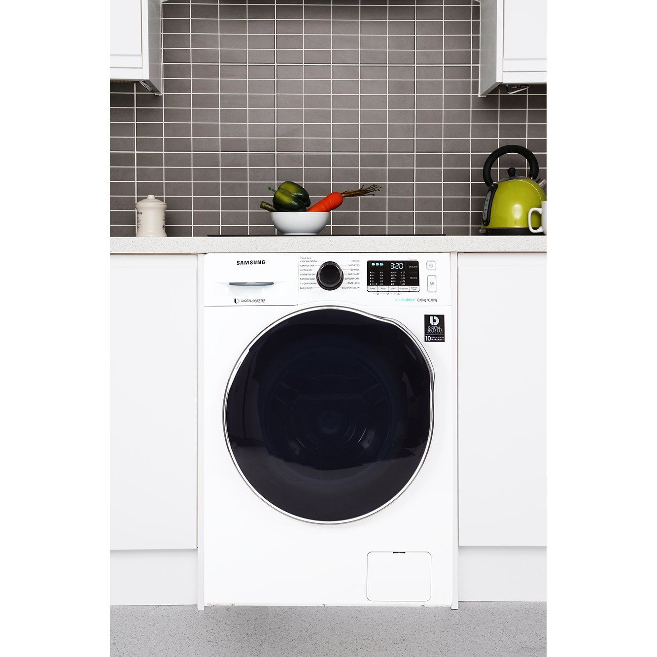 White Wash Kopen Buy Samsung Wd80j5410aw Washer Dryer White Marks