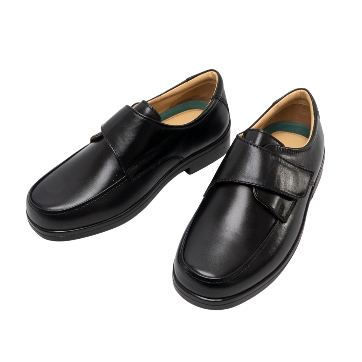 Roamers Mens Leather Extra Wide Fitting Touch Fastening