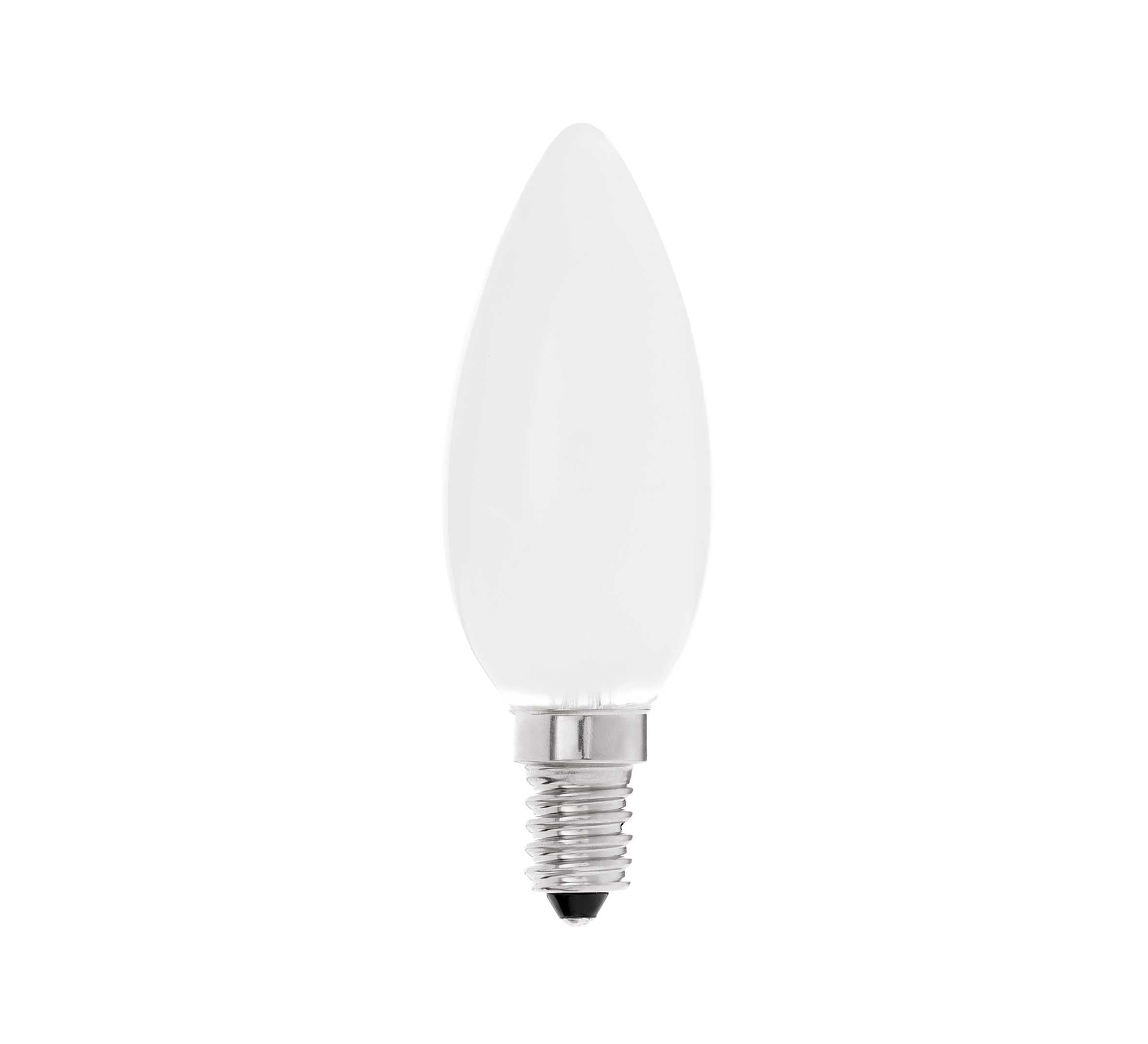 Led E 14 Eco Bulb Led E14 Candle 2700k 450lm 4w Matt Glass H10cm Ø3 5cm Faro