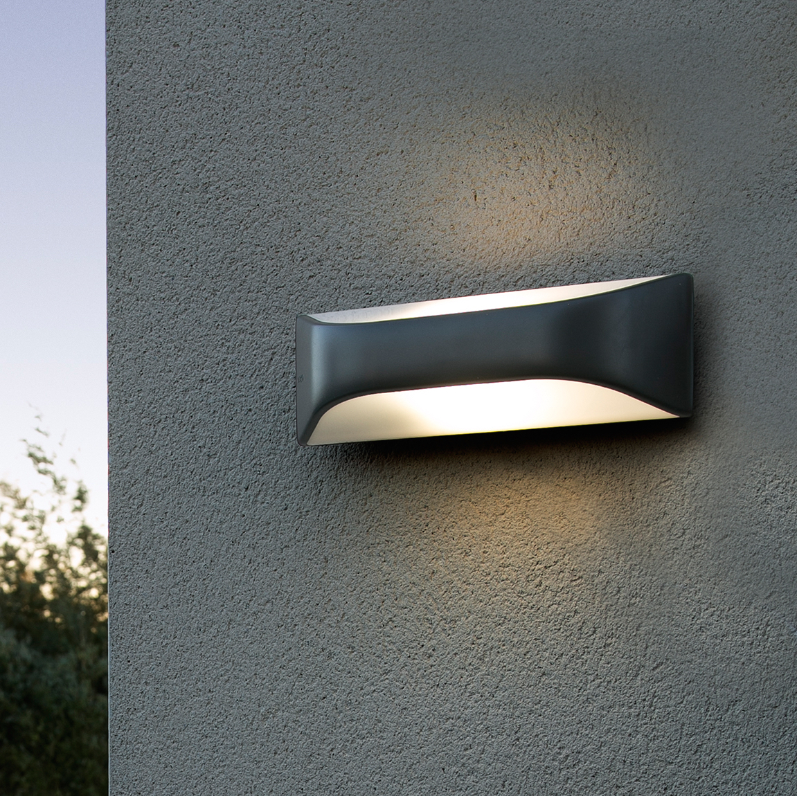 Applique D Extérieur Outdoor Wall Light View Dark Grey H10cm Faro