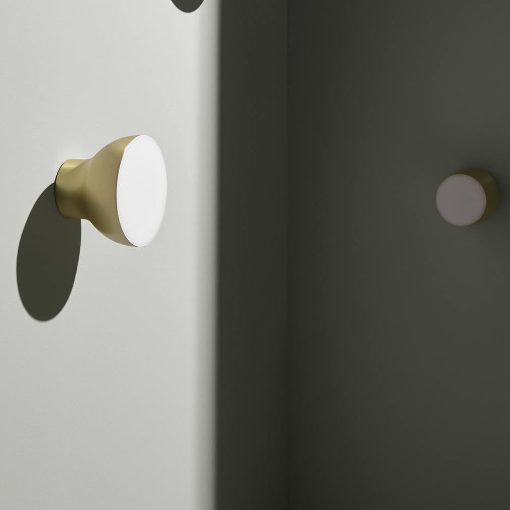 Foto Passepartout Wall Light Passepartout Jh11 Gold Led Ø20cm H15 5cm Andtradition