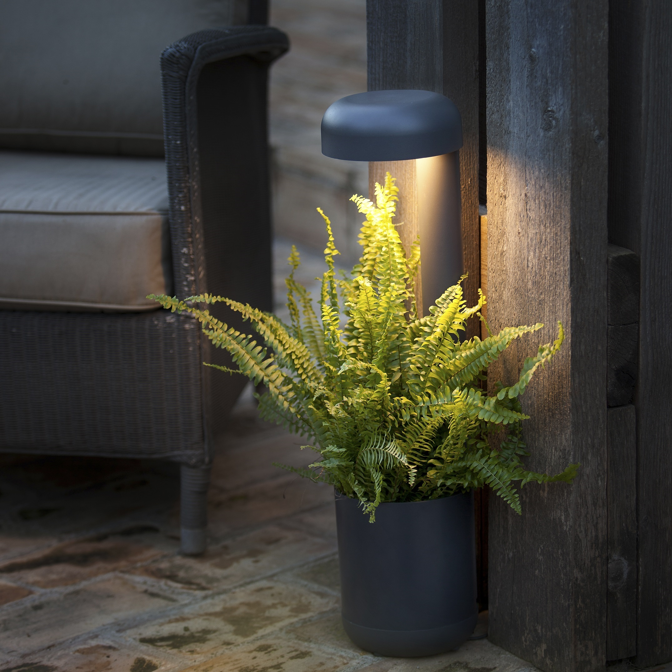 Lampe Led Table Exterieur Outdoor Table Lamp Grow Black H50cm Led Faro