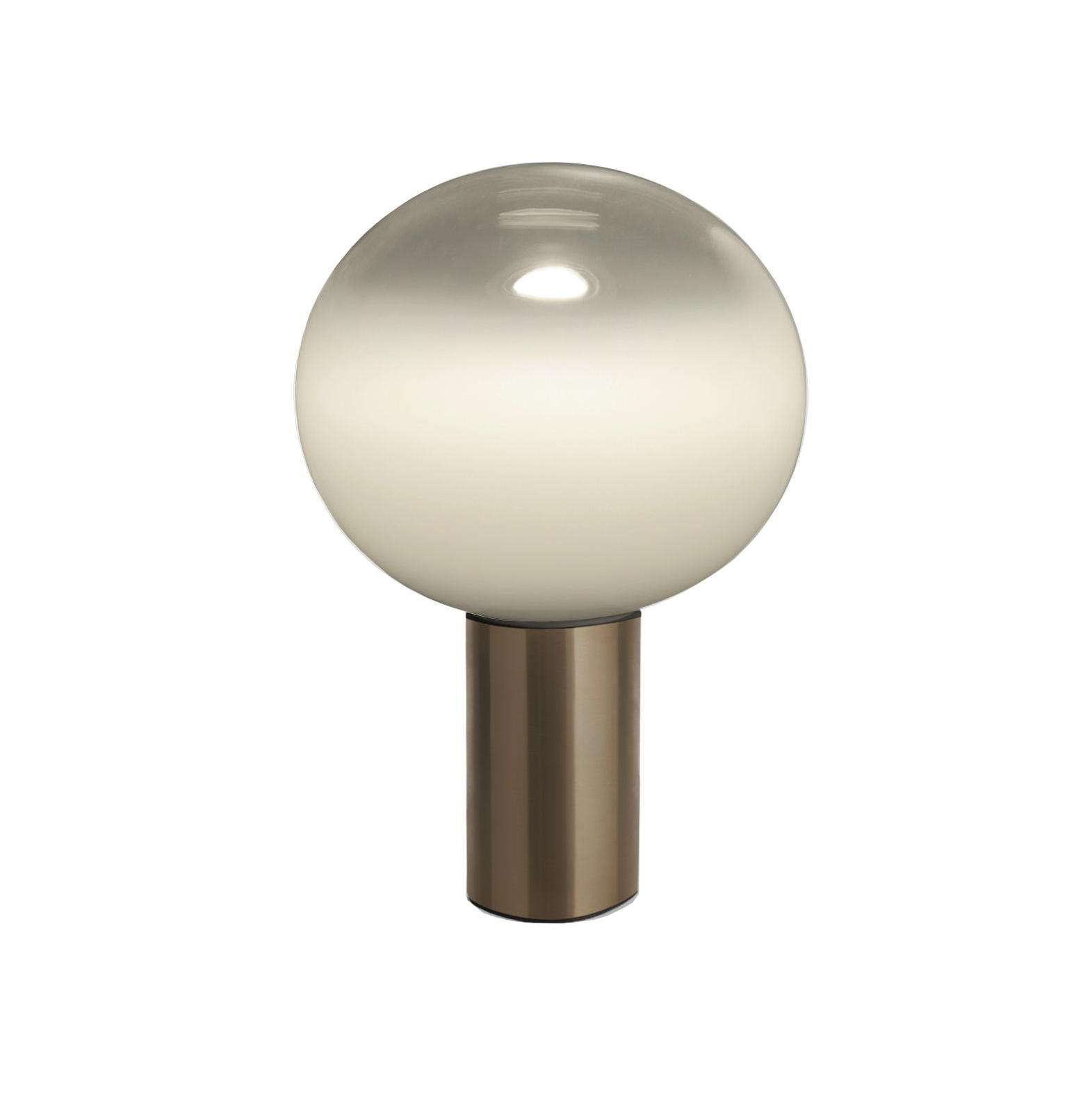 Lampe Artemide Table Lamp Laguna Tavolo Smoked Transparent Satin Bronze Dimmable Ø26cm H38 3cm Artemide