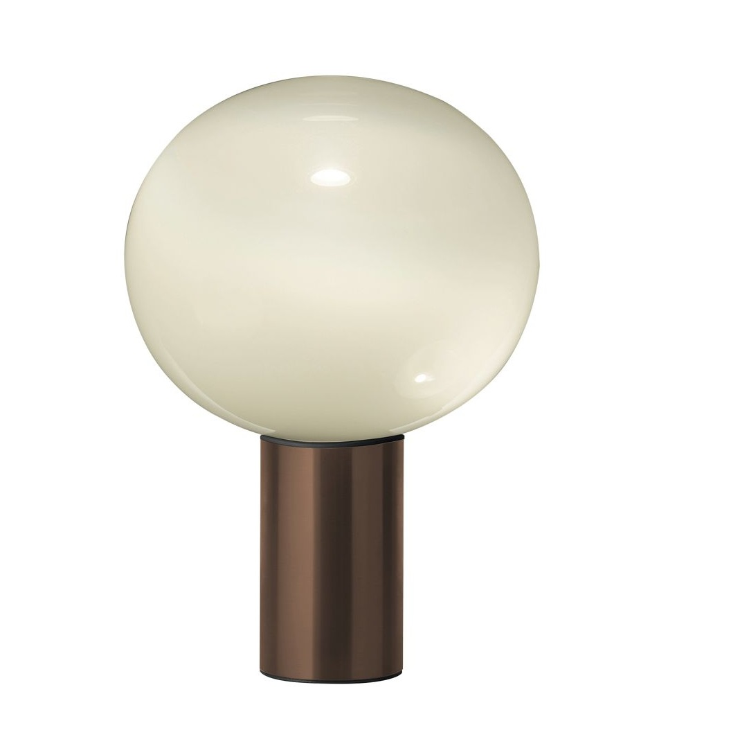 Lampe Artemide Table Lamp Laguna Tavolo Smoked Transparent Satin Bronze Dimmable Ø37cm H54 1cm Artemide