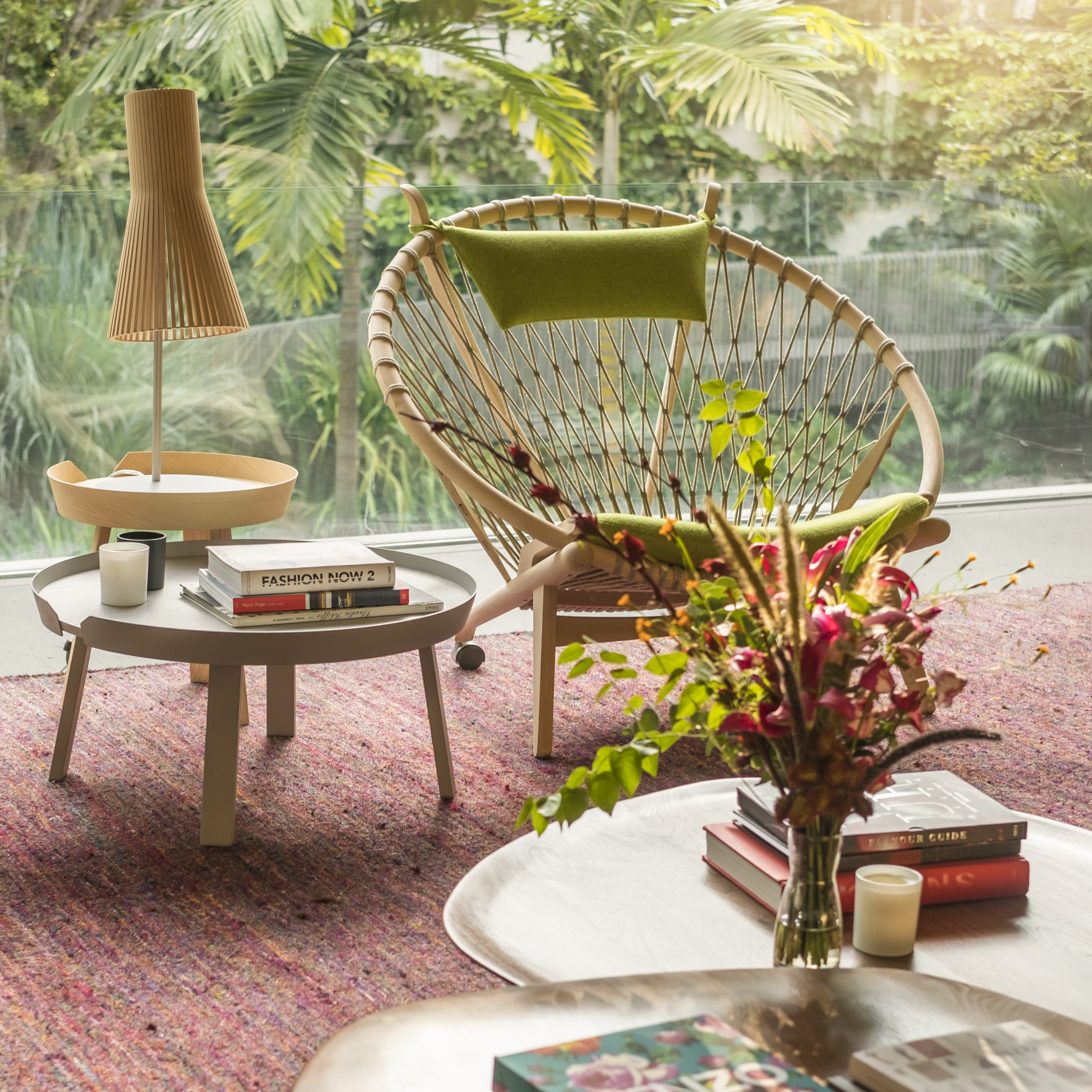 Design Küchenlampe Table Lamp, Secto 4220, Natural Birch, Led, Ø25cm, H75cm - Secto Design - Nedgis Lighting
