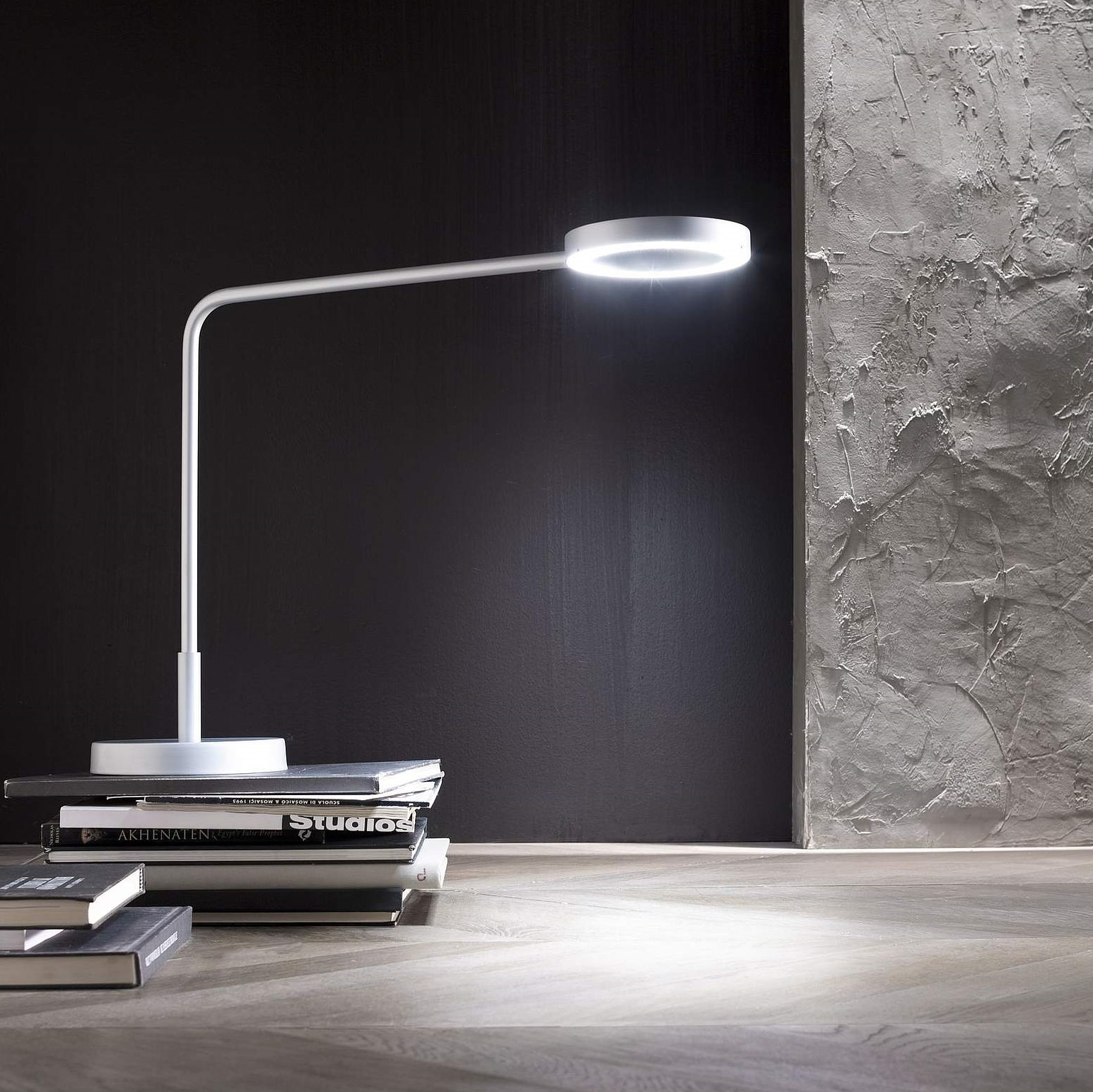 Lampe Bureau Desk Lamp Meta White H48 5cm Led Zava