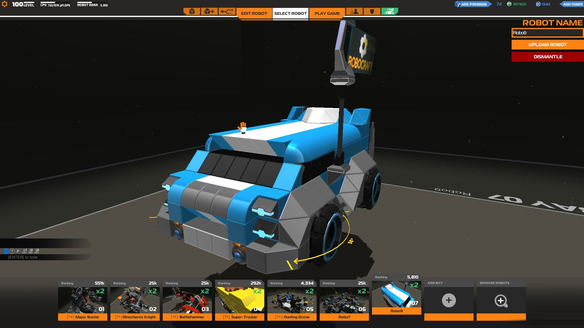Rocketleague Garage Rocket League Merc Robocraft Garage
