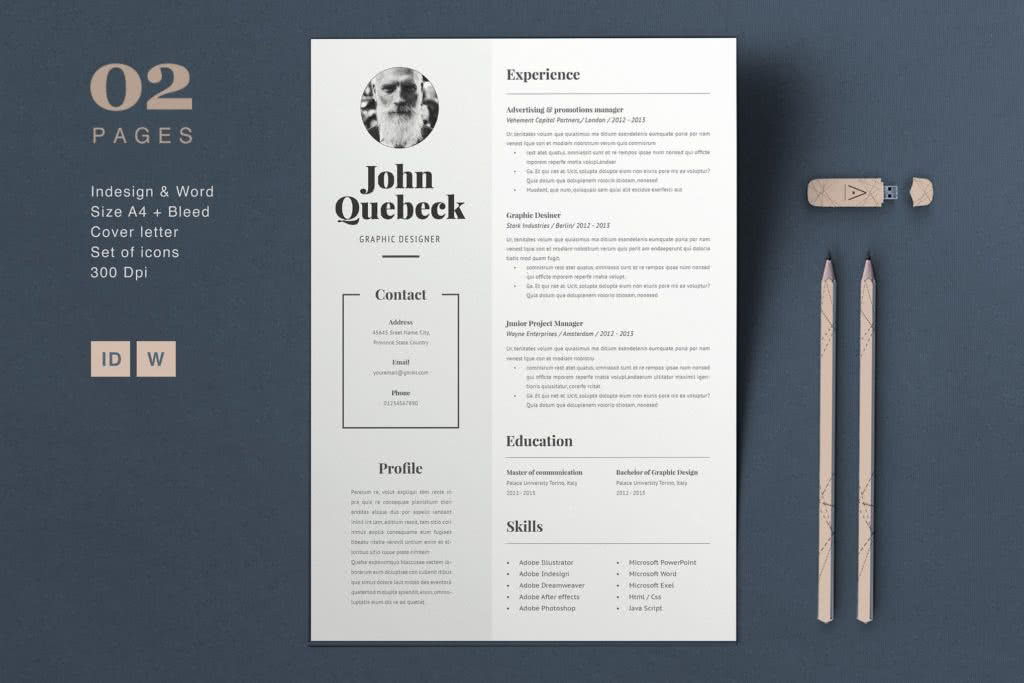 65 Fresh InDesign templates and where to find more - Redokun - indesign resume templates