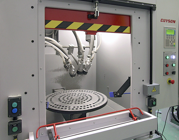 Guyson Offers The Rotary Spindle Blast Rsb As A First