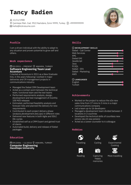 technical account manager cv france