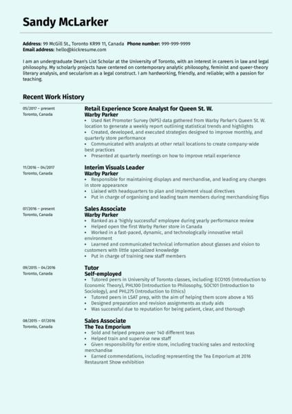 resume executive summary example for volunteer