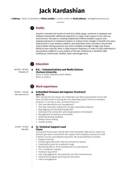 senior full stack developer resume example